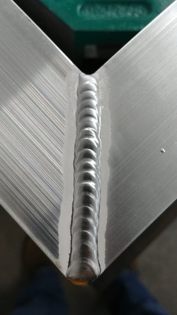 Close up of TIG weld