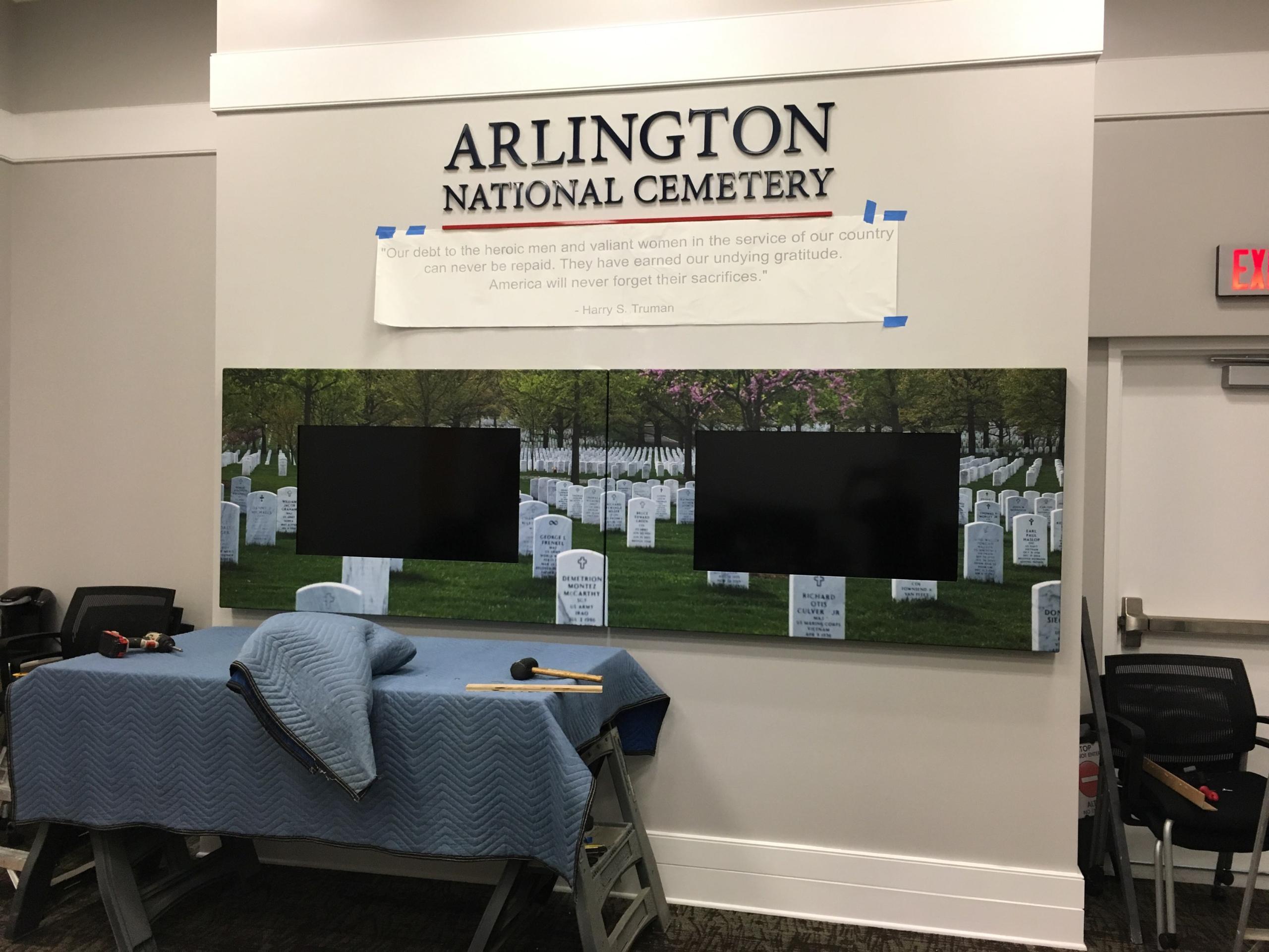 AV enclosures for cemetery