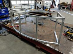 Aluminum fabricated reception desk