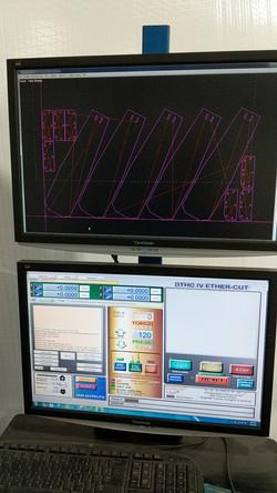 CNC nesting of plasma cut parts