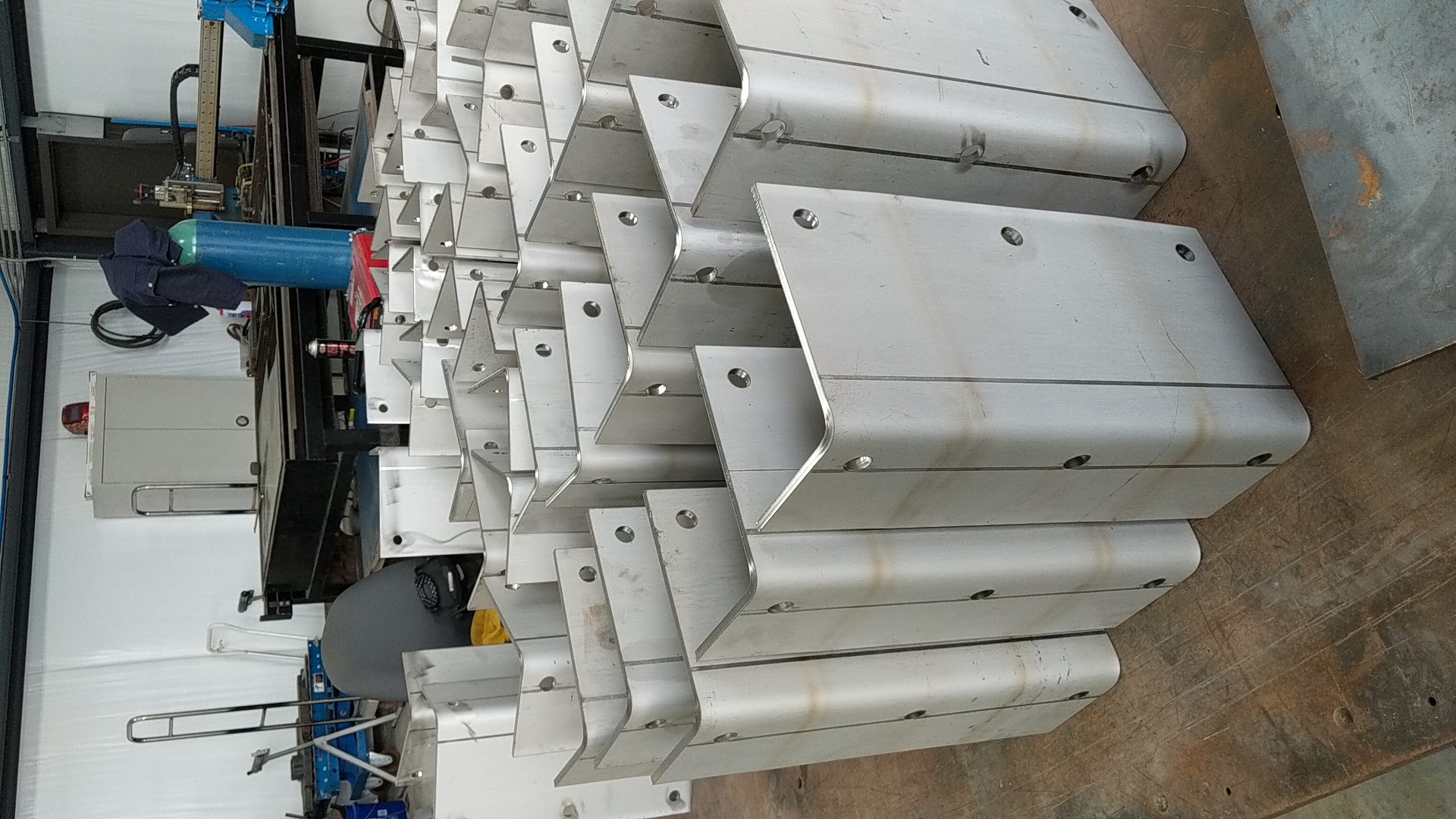 Fabricated stainless steel brackets