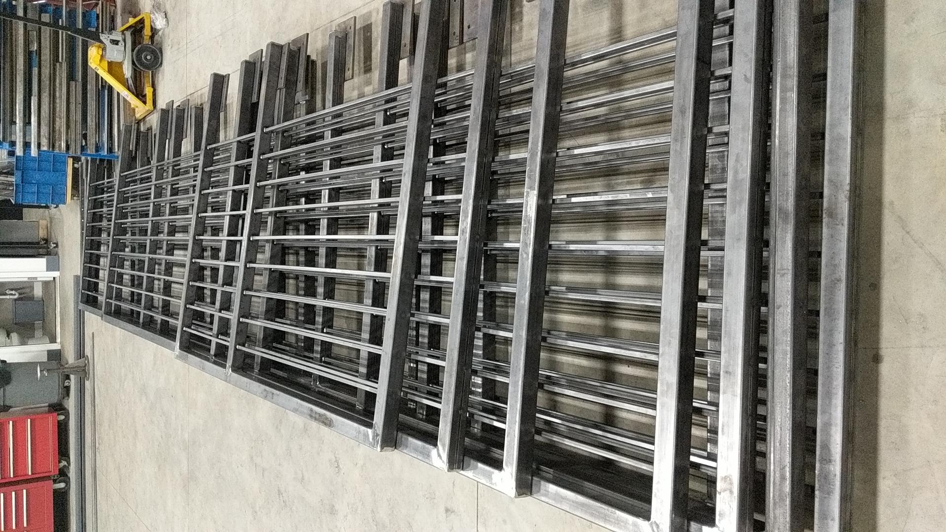 Contemporary steel railings