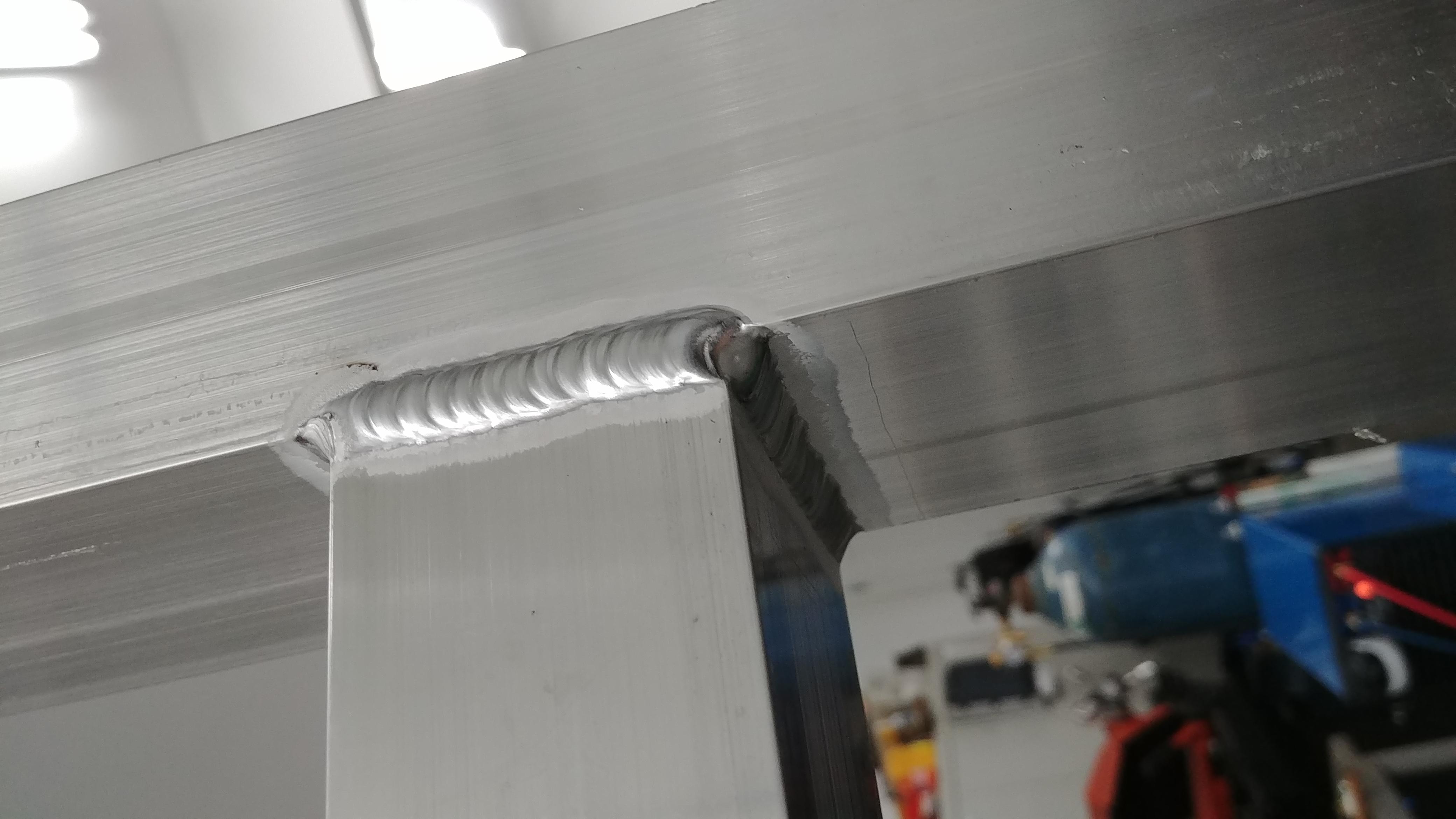 TIG welded aluminum  structure