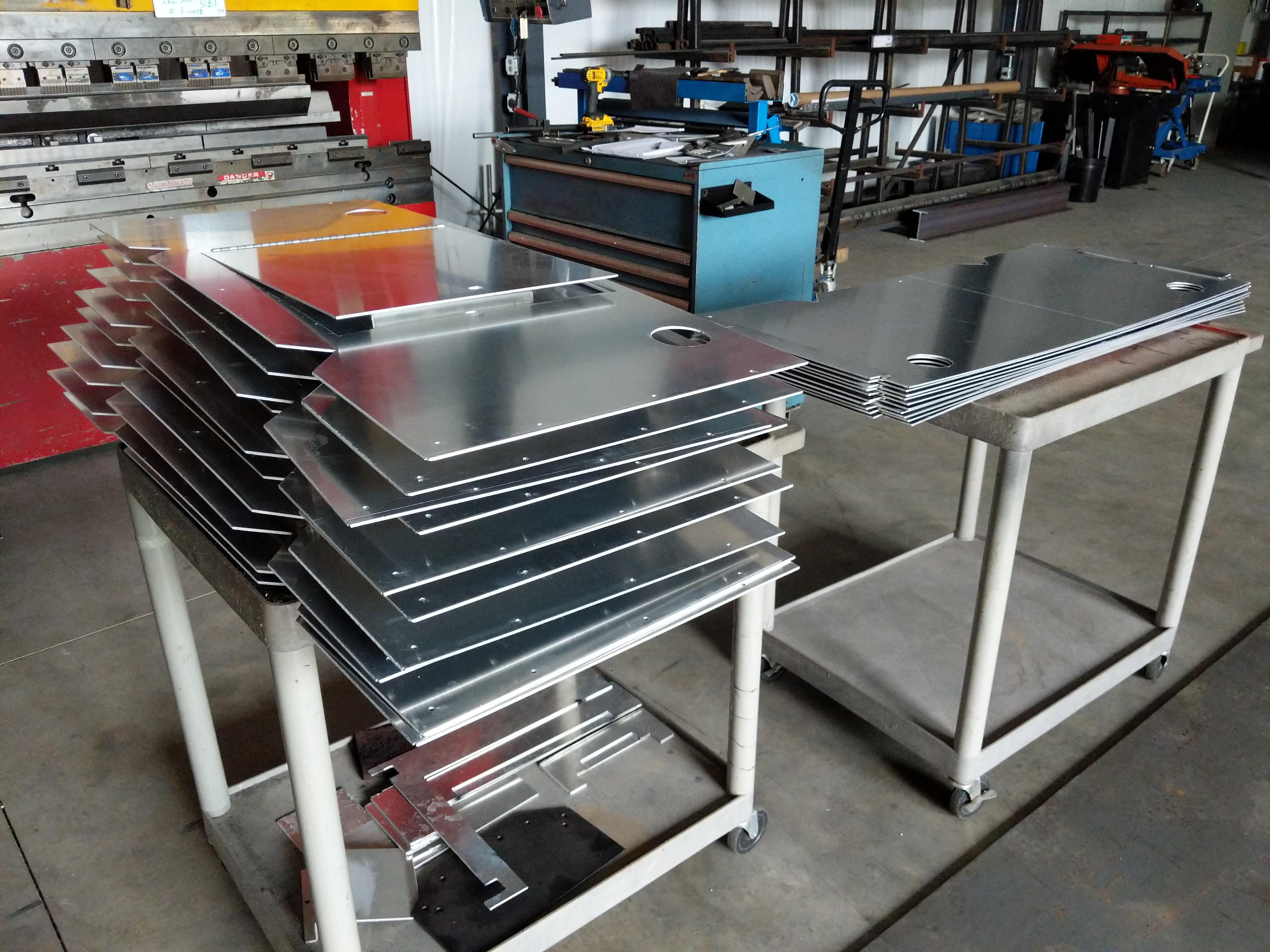 Precision cut sheet metal parts
