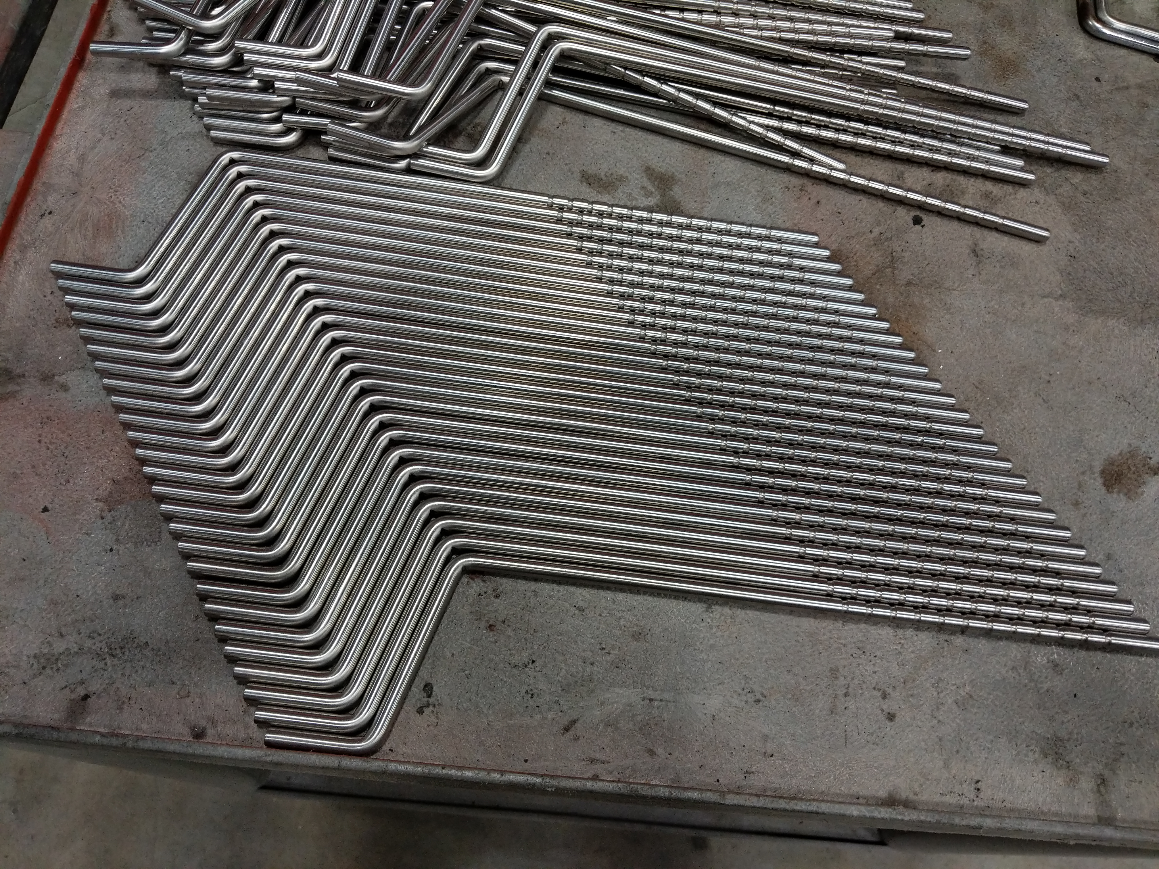 Precision bent stainless steel rods