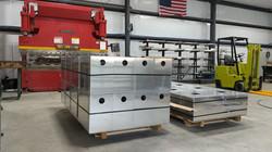 Aluminum housings ready for shipment