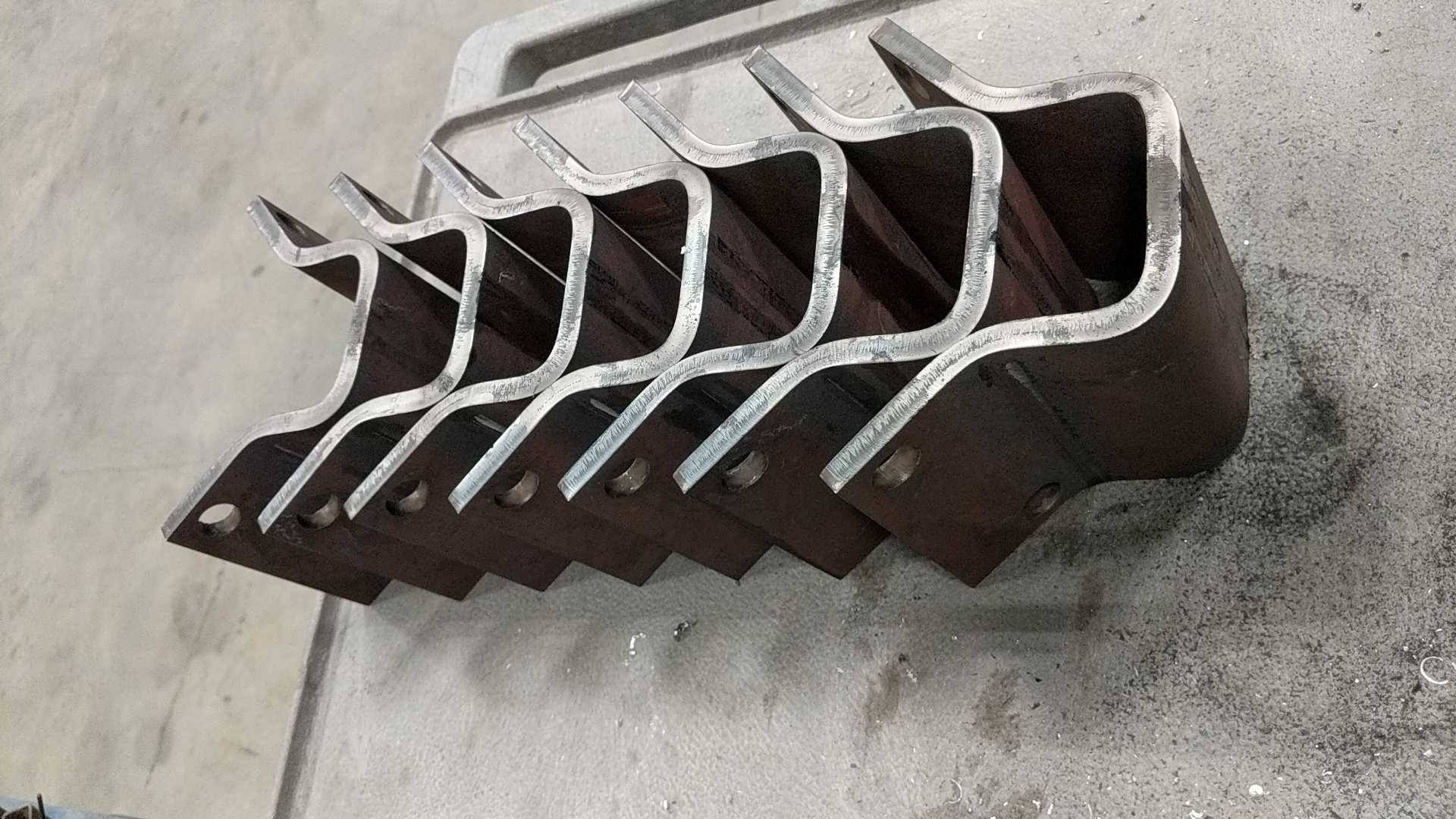 Heavy formed brackets