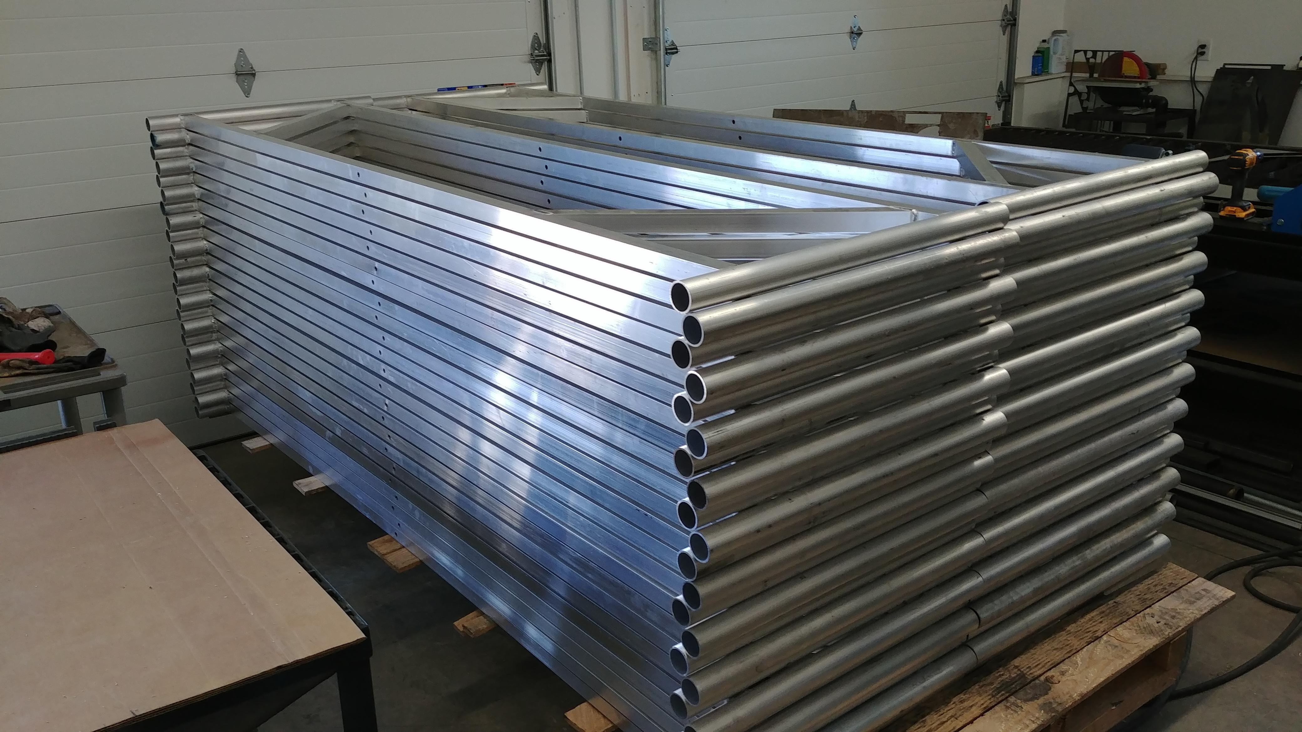 Aluminum support structure