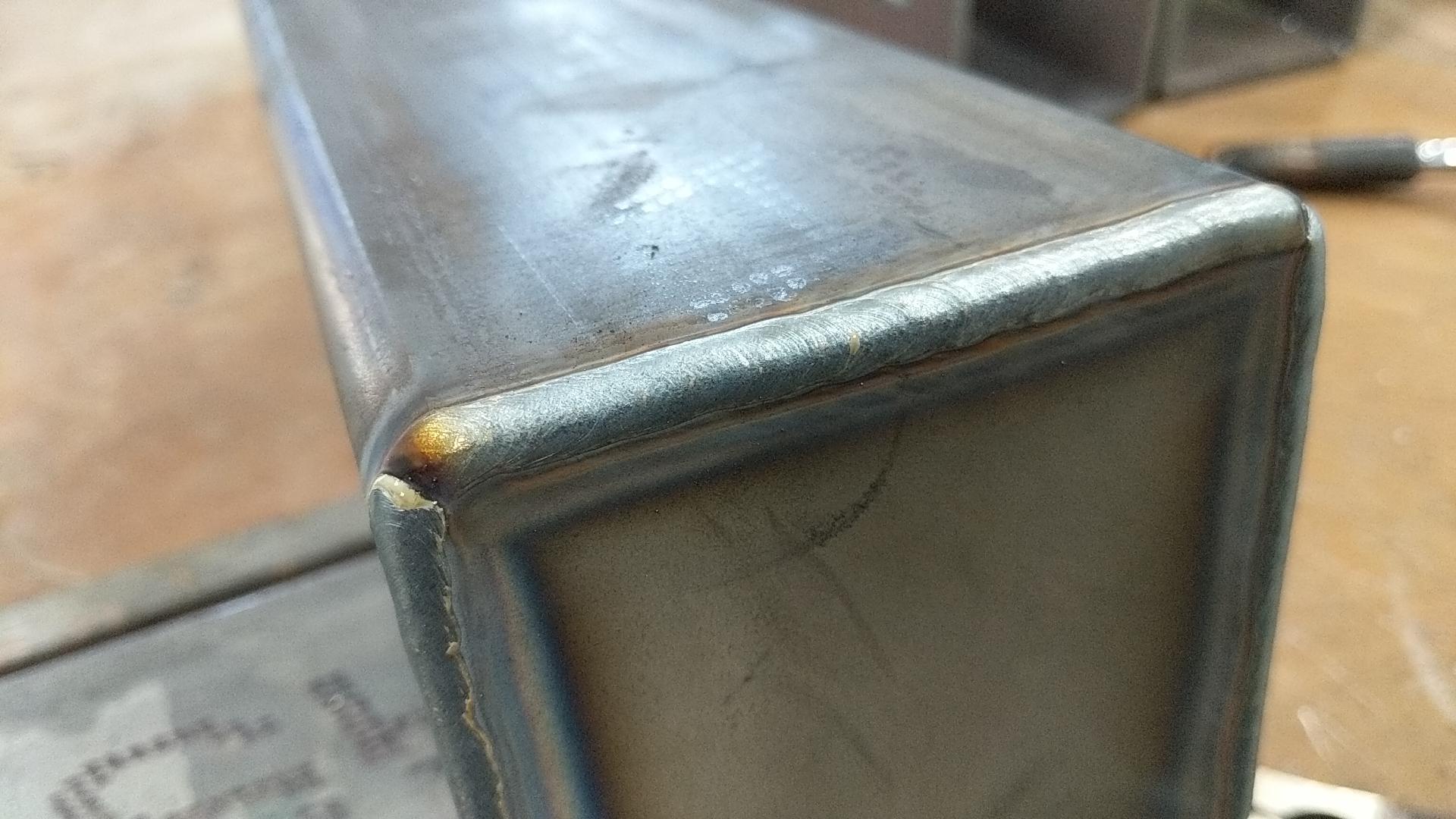 MIG welded carbon steel
