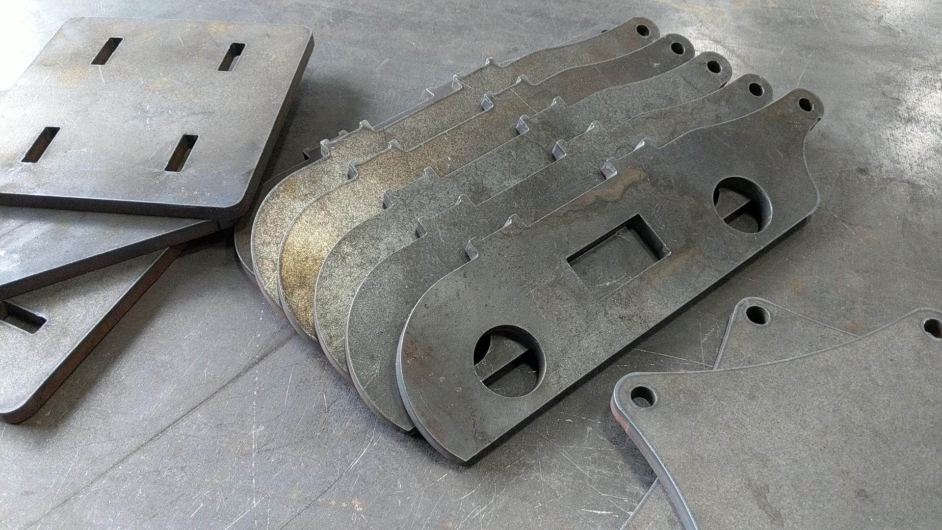 Tab and slot CNC cut A36 steel