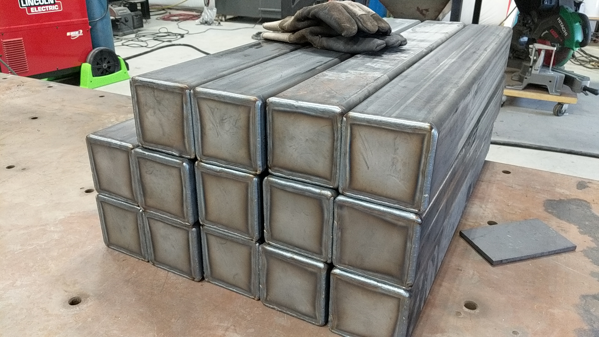 Steel tube weldments