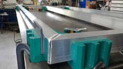 Fixture work for aluminum frame