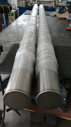 Stainless steel wound filters