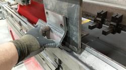 CNC press brake heavy formed bracket
