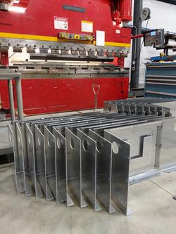 CNC press brake formed sheet metal c