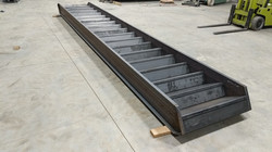 Carbon steel commercial staircase