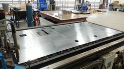 Plasma cutting aluminum sheet metal