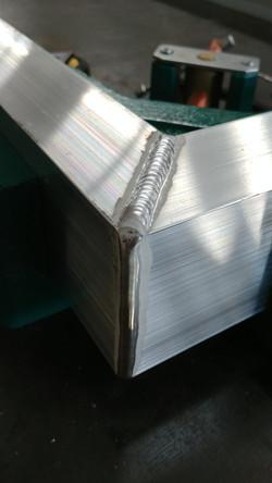 Manual TIG welded corner