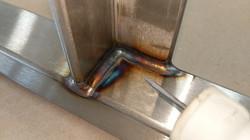 TIG welded stainless steel