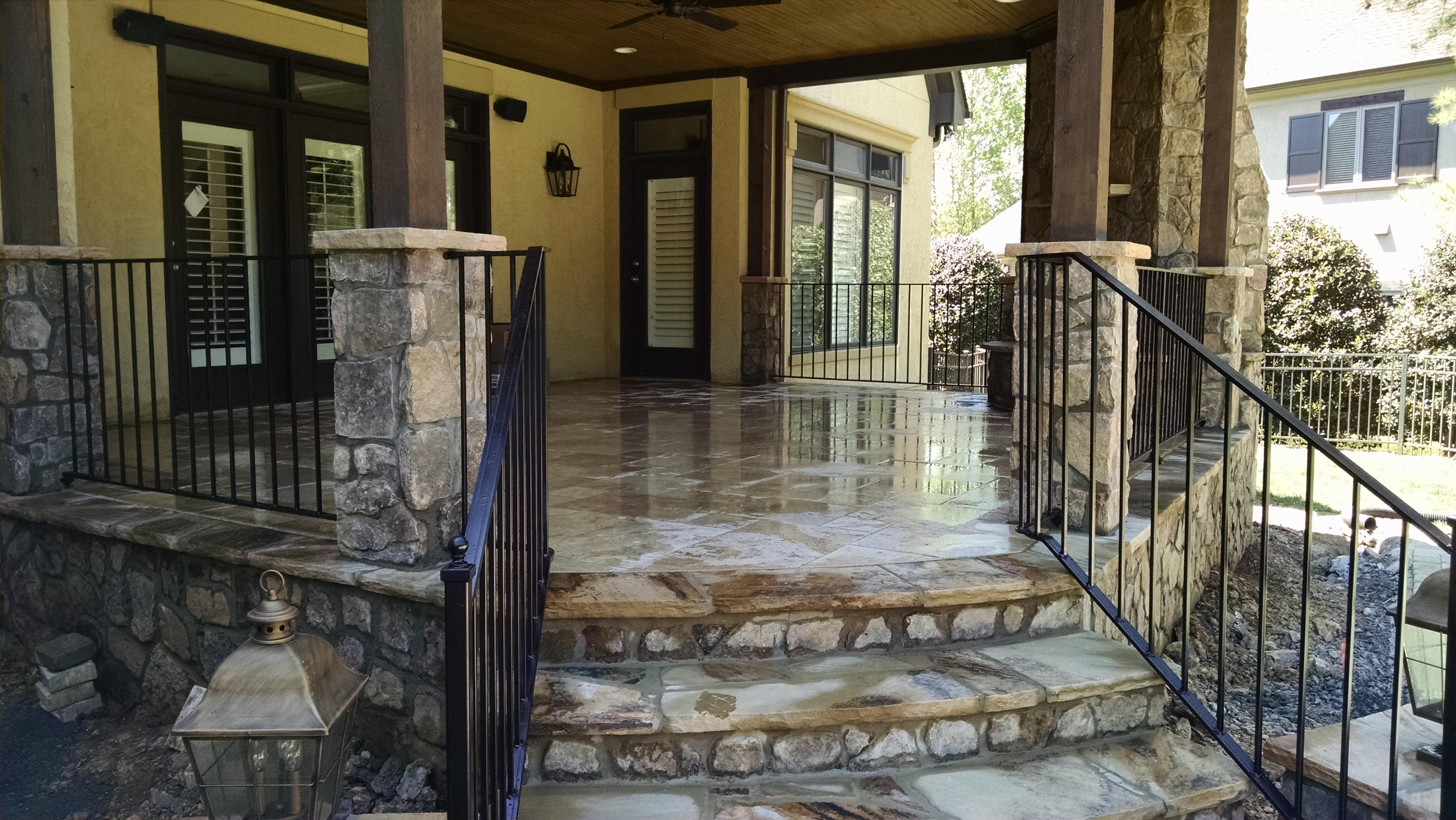 Custom fabricated iron railings