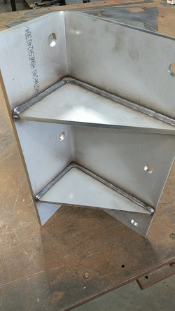 Stainless steel components welded