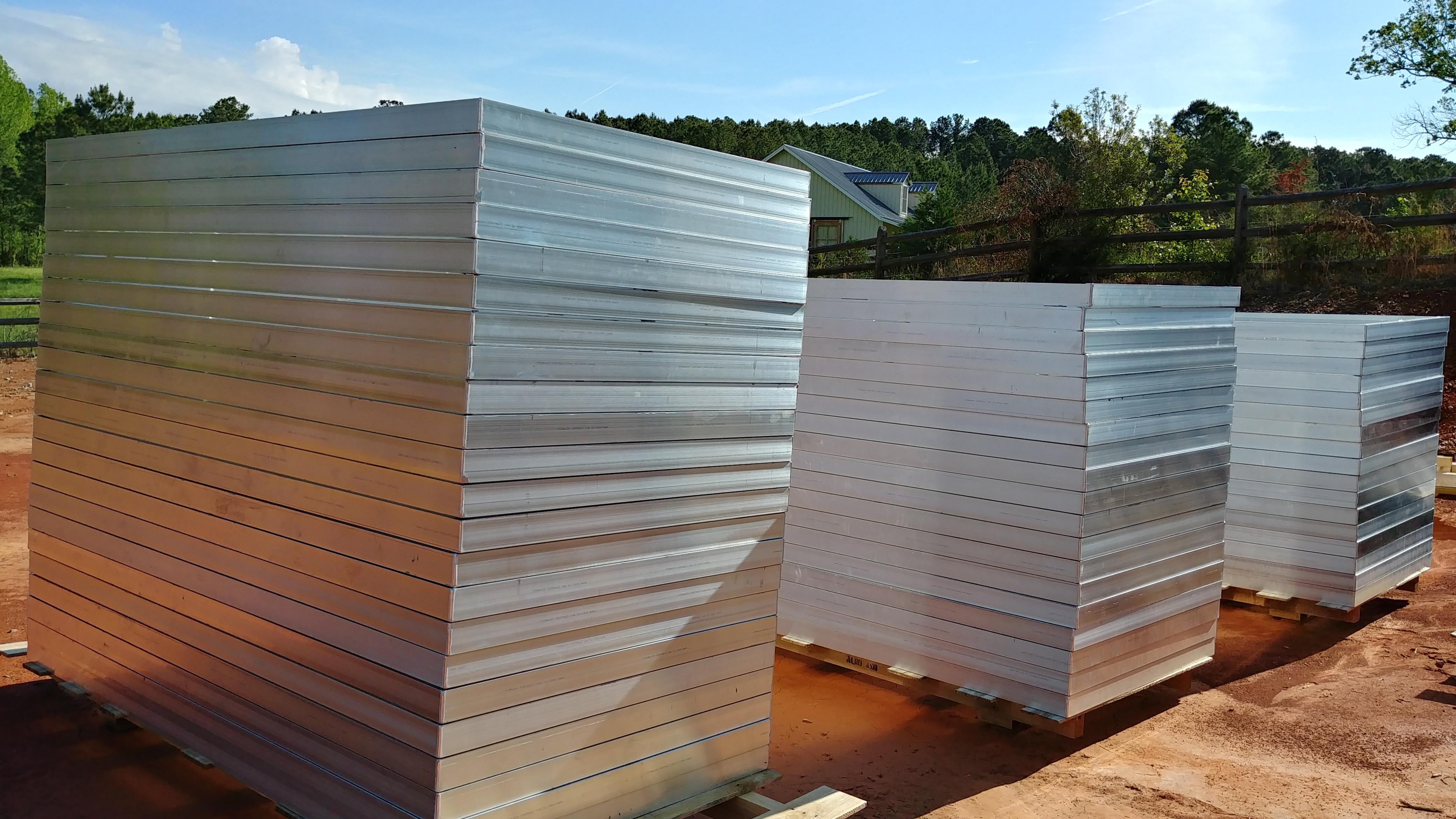 Aluminum fabricated frames