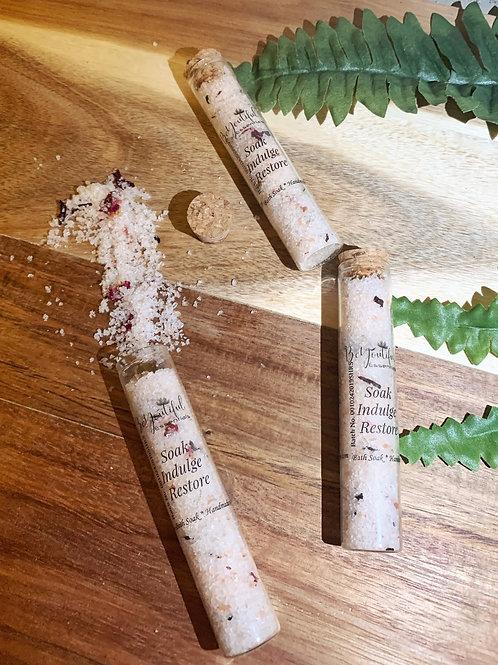 Sweet Hibiscus & Rose Bath Salts - Test Tube