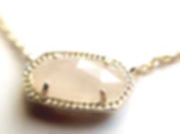 Kendra Scott Elisa Pendant Necklace in Rose Quartz