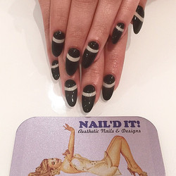 _Life could be colorful, but it's better if you stay true to black_ #nailditsalon#naildit#hollywood#