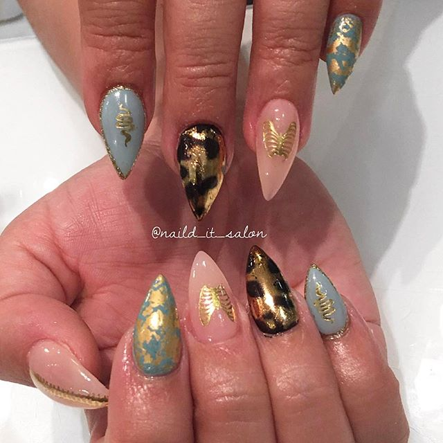 Stiletto Nails _ Nail Wrap Artist _ Nail Art #naildit #nailditsalon #NaildItHollywood