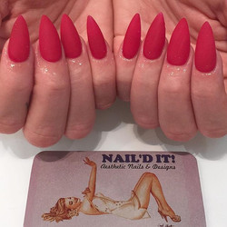 Matte Candy Apple Red__Naild by_ Julia _#naildit #naildithollywood #nailswag #mattered #rednails #st