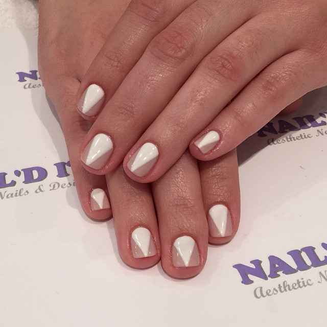 Flawless #nailditsalon #nailart #notd #nailstagram #nailswag #white #tan #gelmani #gelishnailstyle #