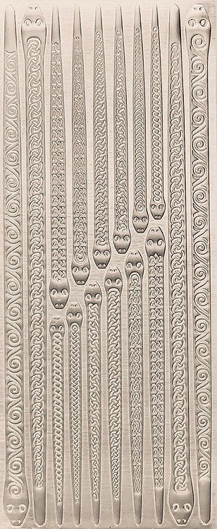 Celtic Snakes Rings & Bangles Sterling Silver Pattern Pressing