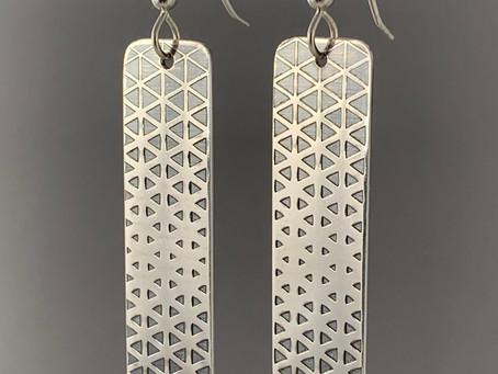 Twelve-Step Tessellated Triangle Earrings