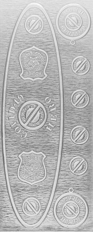 Covid-19 Police Department Sterling Silver Pattern Pressing