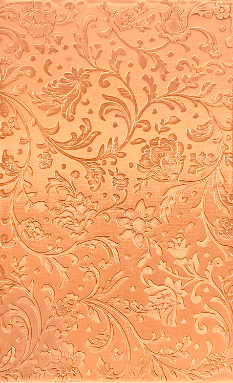 "Swirly Floral Reverse Copper Pattern Pressing 2-1/2"" X 4"""