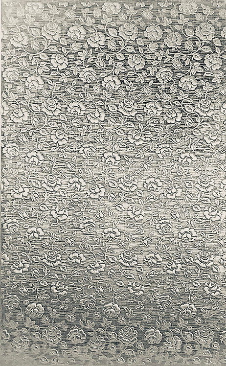 """Small Roses Background Sterling Silver Pattern Pressing 2-1/2"""" X 4"""""""