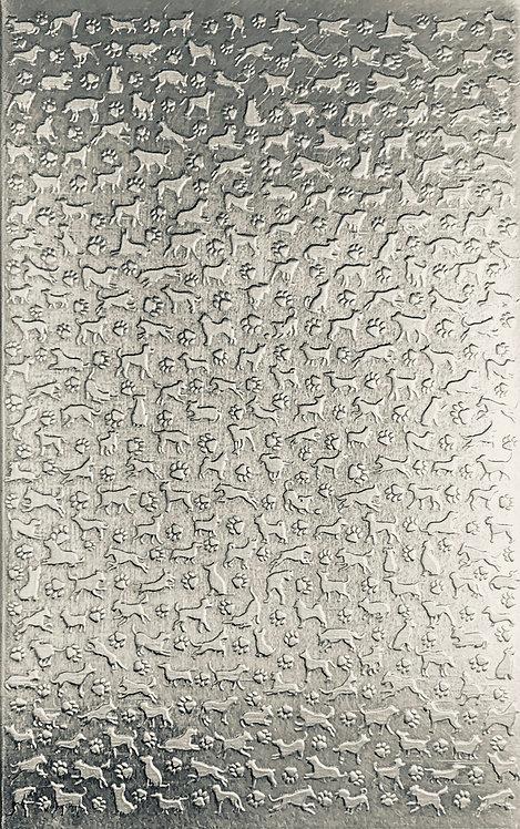 "Dogz Sterling Silver Pattern Pressing 2-1/2"" X 4"""