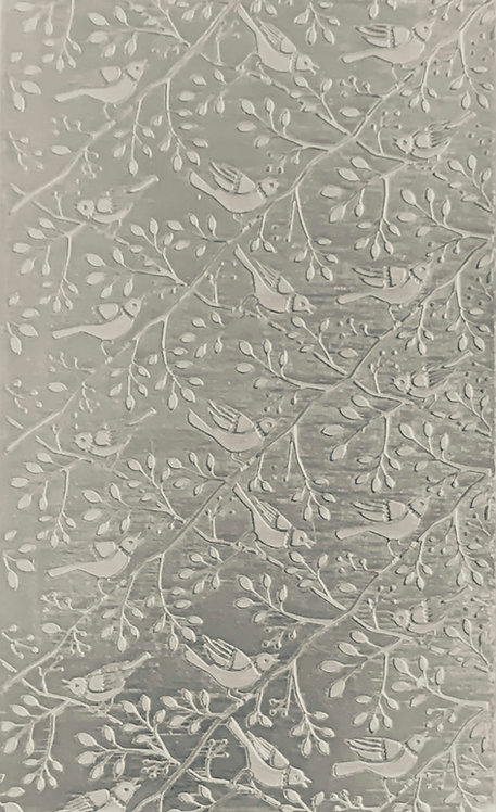 """Birds on Branches Sterling Silver Pattern Pressing 2-1/2"""" X 4"""
