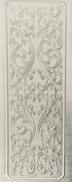 Elegant Scrollwork Cuff with Border Sterling Silver Pattern Pressing