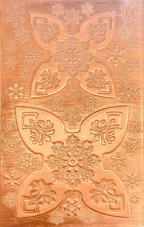 "Mandala Jingle Bell Copper Pattern Pressing 2-1/2"" X 4"""