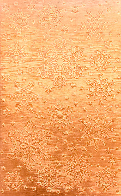 "New England Snowflakes Copper Pattern Pressing 2-1/2"" X 4"""