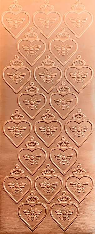 Queen Bee Heart Copper Pattern Pressing