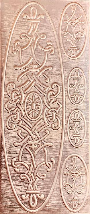 Arabesque Cuff Bracelet Copper Pattern Pressing
