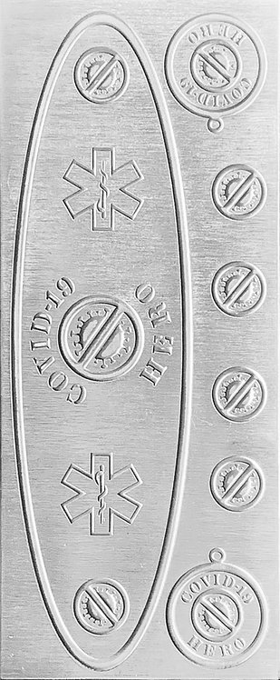 Covid-19 EMT and EMS Sterling Silver Pattern Pressing