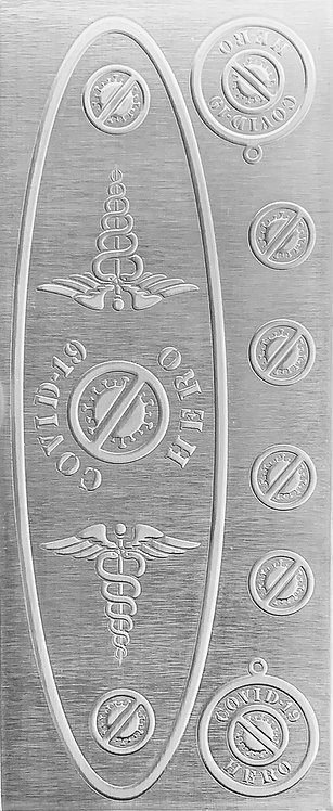 Covid-19 Healthcare Workers Sterling Silver Pattern Pressing
