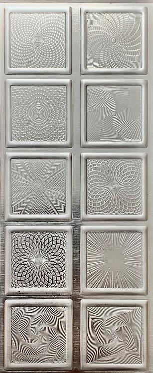 Square Guilloche Enameling Backplates Fine Silver Pattern Pressing