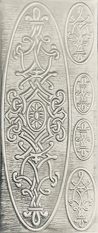 Arabesque Cuff Bracelet Sterling Silver Pattern Pressing
