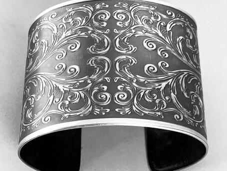 Elegant Scrollwork Cuff Bracelet