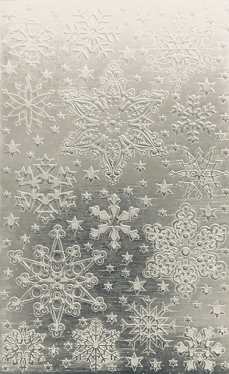 "Rocky Mountain Snowflakes Sterling Silver Pattern Pressing 2-1/2"" X 4"""